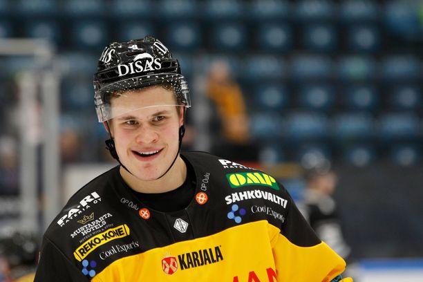 Jesse Puljujärvi on SM-liigan pistepörssissä neljäntenä tehoin 11+13=24.