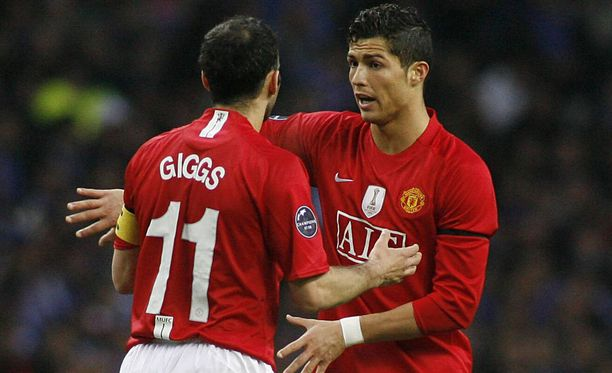 Ryan Giggs antoi opetuksen Cristiano Ronaldolle.