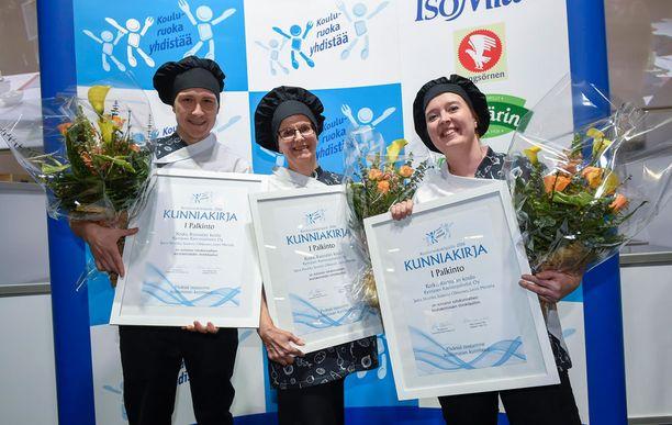 Kotkan voittajajoukkueessa kilpailivat Lenni Marttila, Jaana Huuhka ja Susanna Olkkonen.
