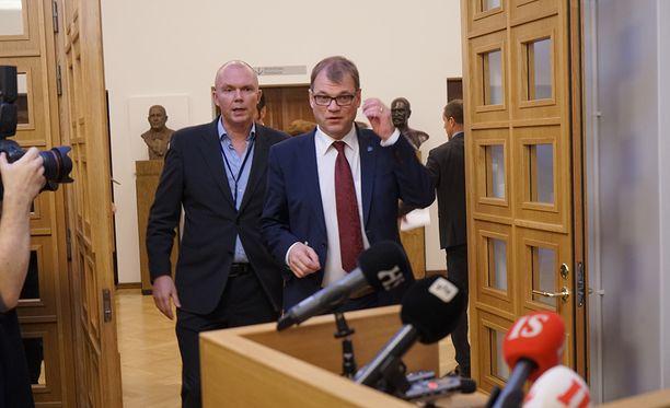 Juha Sipilä piti eilen tiedotustilaisuuden.