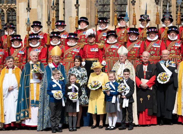 Kuningatar on tuttu näky näissä karkeloissa.