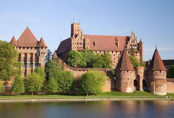 Malborkin linna on Euroopan suurin tiilirakennelma.