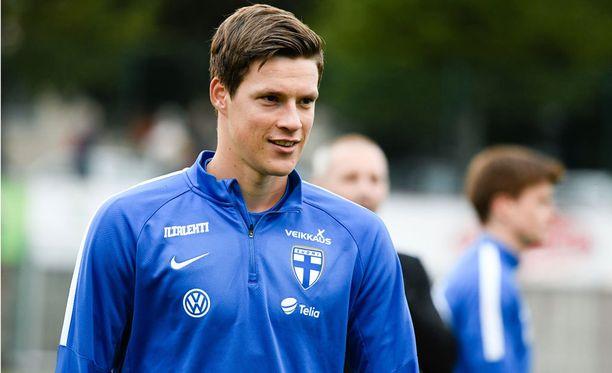 Sauli Väisänen nautti lauantaina ensimmäisestä voitostaan A-maajoukkueessa.