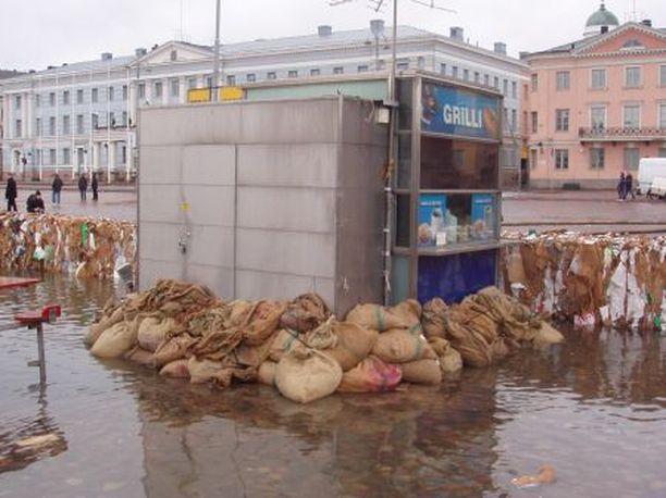 Vedennousun uhka on erityisen suuri Helsingin vanhoissa kaupunginosissa kuten Kluuvissa.