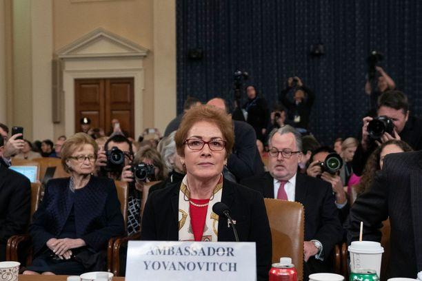 Yhdysvaltain entinen Ukrainan-suurlähettiläs Marie Yovanovitch marraskuussa 2019.