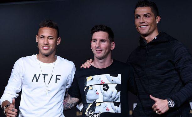 Neymar, Leo Messi ja Cristiano Ronaldo tulevat toimeen keskenään.