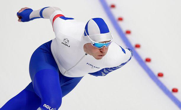Mika Poutala oli hyvässä vauhdissa Kiinassa järjestettävissä sprinttereiden MM-kisoissa.