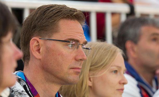 Pääministeri Katainen oli eilen seuraamassa Lontoon olympialaisia.