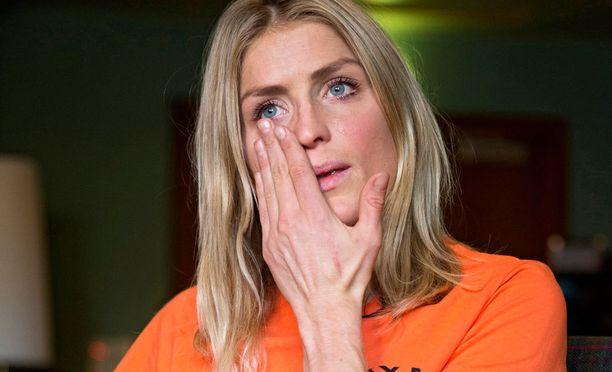 Therese Johaug on vetistellyt dopingkärynsä julkisissa esiintymisissä ainakin kolmeen eri otteeseen. Tämä kuva on viime vuoden lokakuulta.