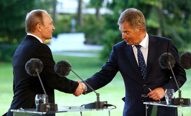 Venäjän presidentti Vladimir Putinin vierailu Kultarannassa kesällä 2016.