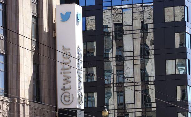 Twitter-yhtiön pääkonttori San Franciscossa Kaliforniassa.