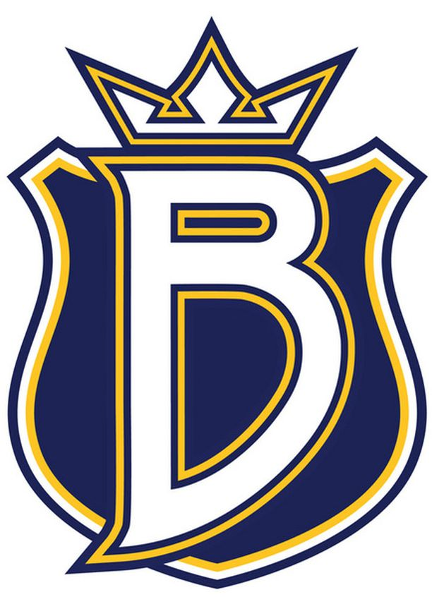 Tässä komeilee Bluesin uusi logo.