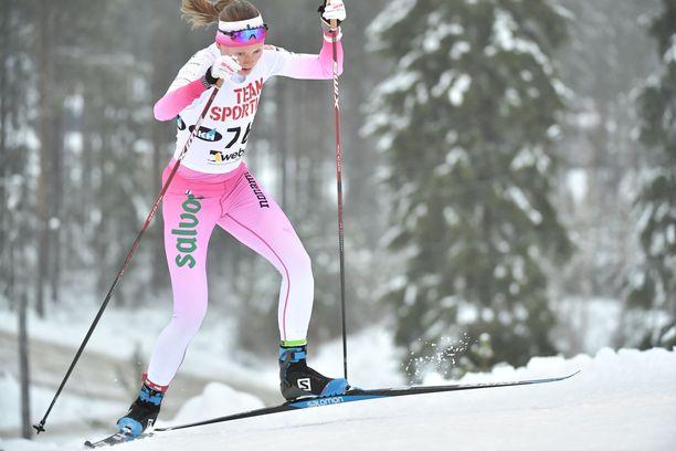 Johanna Matintalo oli neljäs sunnuntaina Taivalkosken Suomen cupissa.