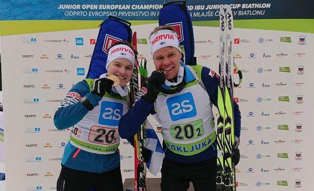 Jenni Keränen ja Jaakko Ranta pääsivät mitalin makuun heti EM-kisojen avauspäivänä.