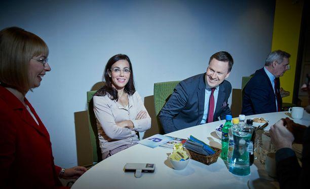 Susanne Päivärinta tenttasi SDP:n puoluejohtajia A-Studion tentissä tammikuussa.