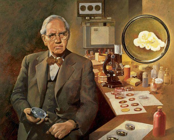 Alexander Fleming (1881-1955) keksi penisilliinin.