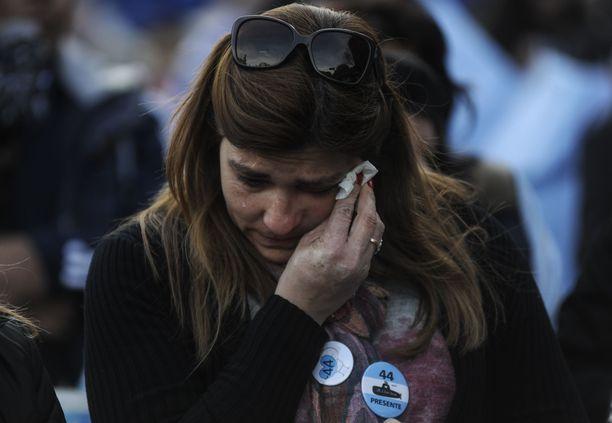 Uhrien omaiset osoittivat mieltään Buenos Airesissa elokuussa, kun katoamisesta oli kulunut tasan yhdeksän kuukautta.