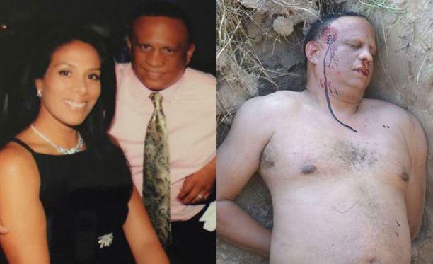 """Nyrkkeilyvalmentaja Ramon Sosan ja hänen ex-vaimonsa Marian parisuhde päättyi karmealla tavalla. Oikealla oleva kuva """"murhatusta"""" Sosasta on lavastettu."""