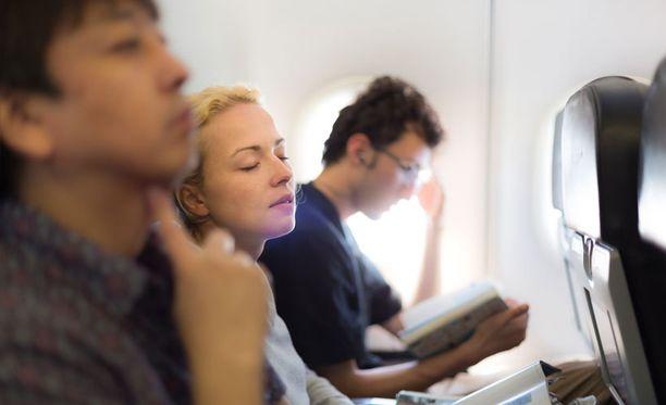 Pitkä lento väsyttää.