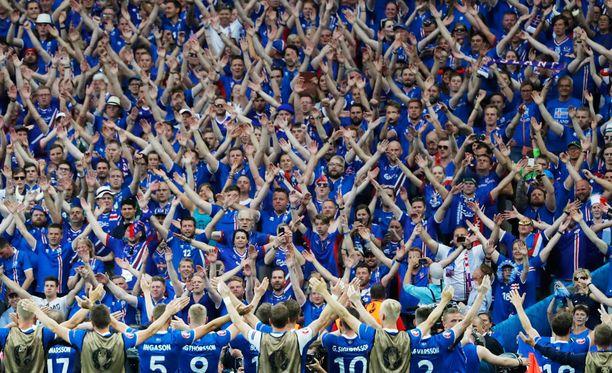 Islannilla on kulkenut EM-kisoissa hyvin. Keskiviikkona kaatui Itävalta.