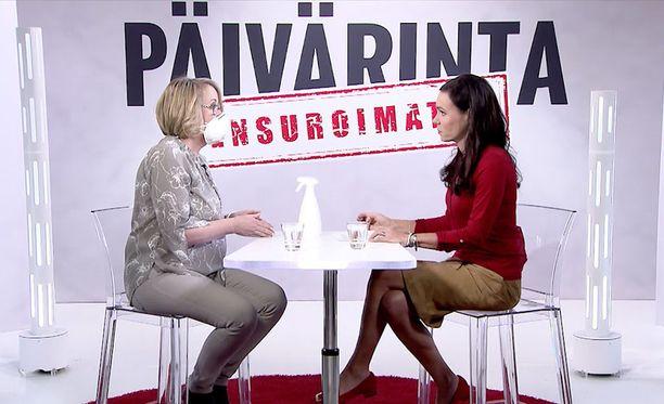 Jos Petra Haglund haistaa hometta tilassa jossa hän on, hän joutuu käyttämään hengityssuojainta tai lähtemään pois. Haglund on vieraana Susanne Päivärinnan ohjelman uusimmassa jaksossa.