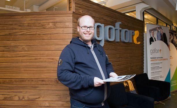 Kasvu edellyttää, että Goforella on osaavia ja innostuneita työntekijöitä. Kuvassa Goforen kulttuurista ja osaamisista vastaava johtaja Erkki Salminen.