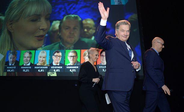 Sauli Niinistö sai ennakkoäänistä 64,4 prosenttia.