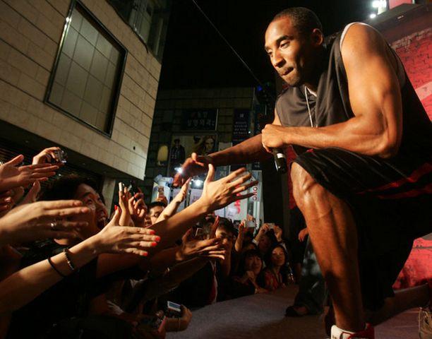 Lakersin tehotykki Kobe Bryant on korisfanien suosikki.