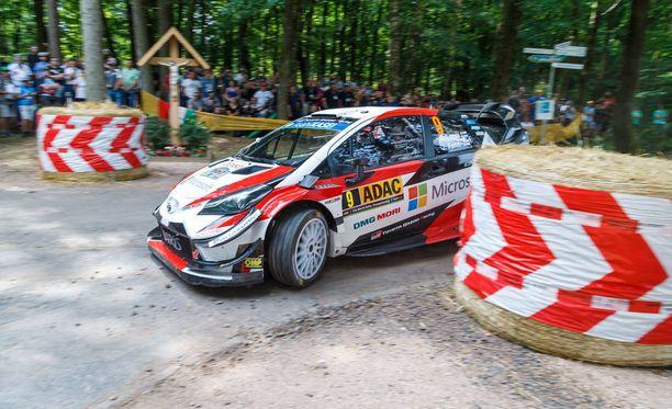 Toyotan Esapekka Lappi kaahasi toiseksi parhaan ajan Wadern-Weiskirchenin pätkällä.