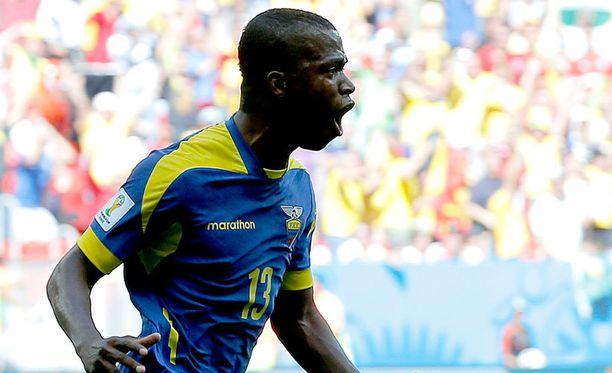 Enner Valencia iski jo viidennessä ottelussa putkeen maalin Ecuadorille.