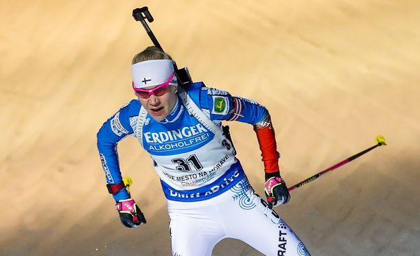 Kaisa Mäkäräinen oli 10 kilometrin takaa-ajokisassa 11:s.