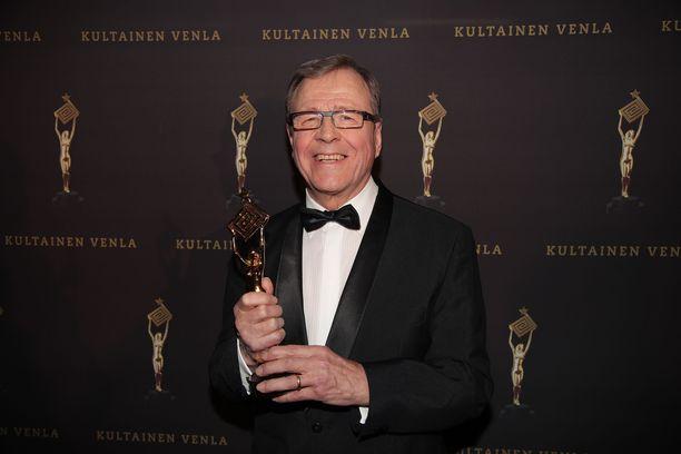 Arvi Lind sai vuonna 2016 Kultaisen Venlan elämäntyöstään.