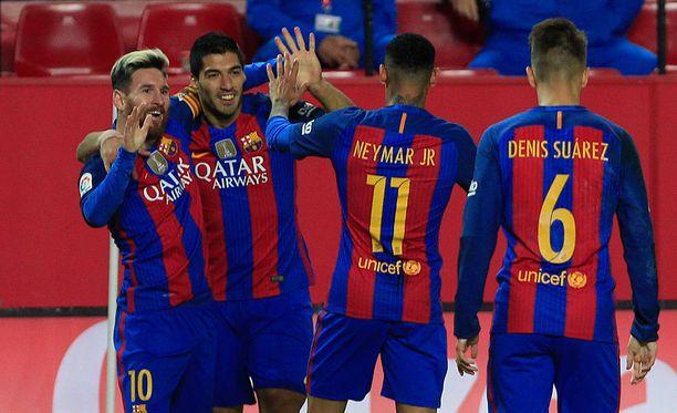 Barcelona MSN-hyökkäystrio nousi tasolleen sunnuntai-illan trillerin toisella puoliajalla.