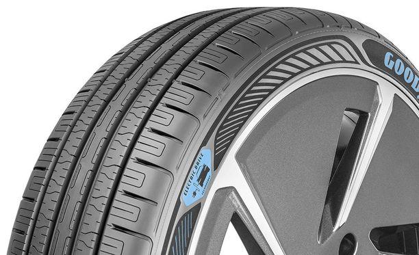 Goodyearin sähköautoihin kehittämän renkaan kerrotaan kestävän tavallista rengasta paremmin sähkömoottorin suurta vääntöä.