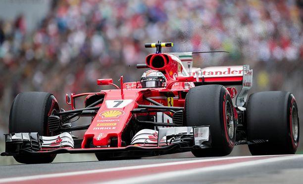 Tältä näytti Ferrarin F1-auto viime vuonna.