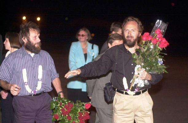 Seppo Fräntin ja Risto Vahasen kotiinpaluu oli tunteikas.
