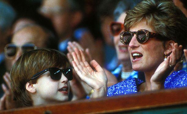 Prinssi Williamin kanssa vuonna 1993.