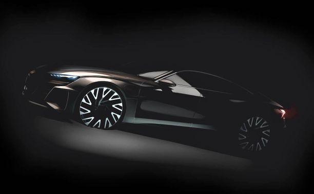 Audi e-Tron GT (tässä konseptista kuva) rakentuu samalle pohjalle kuin Porschen uusi Taycan -urheiluauto.