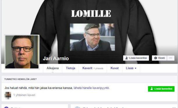 Lähes tuhat Facebookin jäsentä on ehtinyt hakeutua vale-Aarnion kaveriksi.