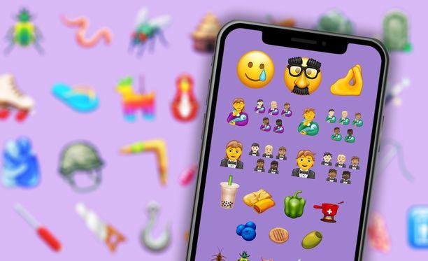 Uudet emojit saadaan puhelimiin vielä tämän vuoden puolella.