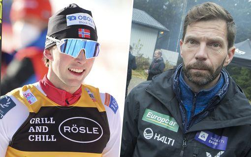 Jarl Magnus Riiber vastaa Janne Ahosen kritiikkiin – Norjan maajoukkuepomo menetti malttinsa lehdistötilaisuudessa