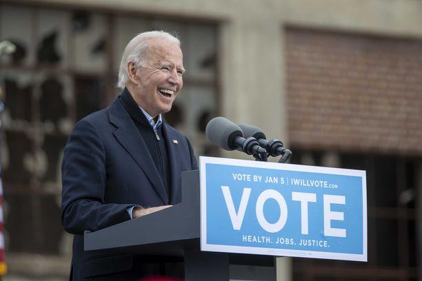 Tuleva presidentti Joe Biden kampanjoi demokraattiehdokkaiden puolesta Georgiassa joulukuussa.
