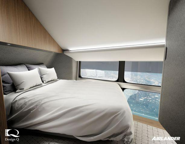 Maisemista pääsee nauttimaan yhteisten tilojen ohella myös Airlander 10:n hyteissä.