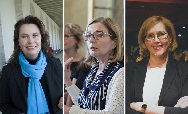 Johanna Ojala-Niemelä, Anneli Kiljunen ja Tuula Haatainen.