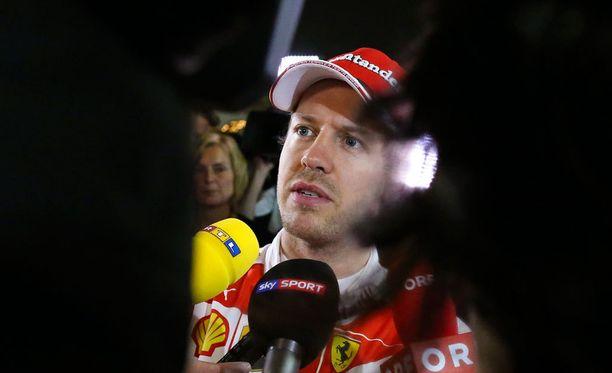 Sebastian Vettelin sunnuntai oli synkkä.