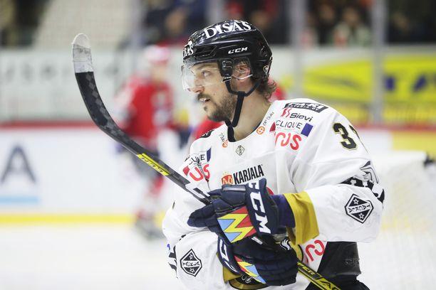 Juhamatti Aaltonen avasi kauden maalitilinsä myös Kärpissä.