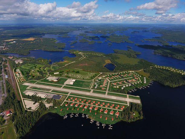 Mänttä-Vilppulan Air Parkissa asuinrakennukset sijaitsisivat kiitotien ympärillä, jolloin omalla koneella pääsisi liikkeelle vaikka kotipihasta.