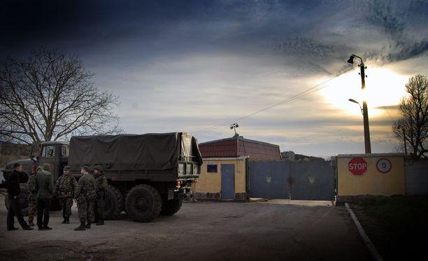 Ukrainan sotilastukikohta Krimillä.