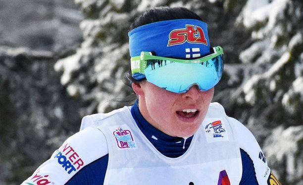 Krista Pärmäkoski starttaa kolmanneksi viimeiseen Tour de Ski -päivään nelospaikalta.
