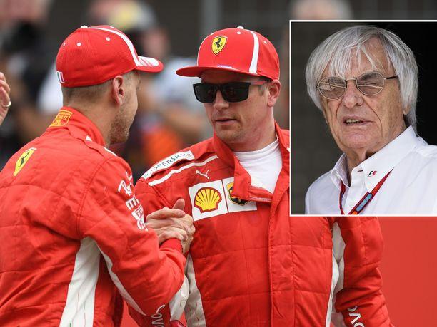 Bernie Ecclestonen mukaan Ferrari ja Kimi Räikkönen eivät ole tukeneet Sebastian Vetteliä MM-taistelussa riittävästi.